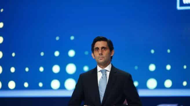 José María Álvarez-Pallete, presidente de Telefónica en una junta de accionistas