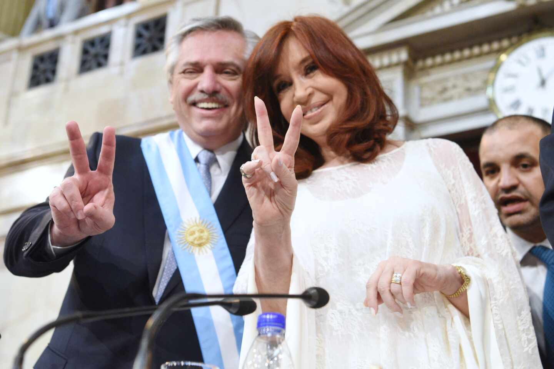 Alberto Fernández y Cristina Fernández de Kirchner, en Buenos Aires.
