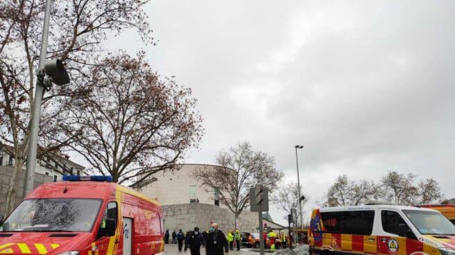 Ambulancias del Samur 112, en la calle Toledo de Madrid.