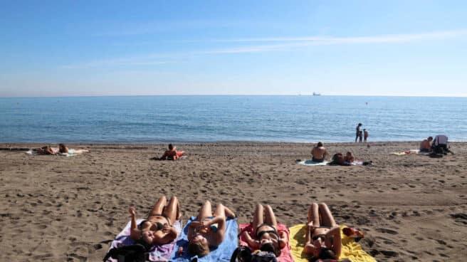 La playa de La Malagueta en Málaga.