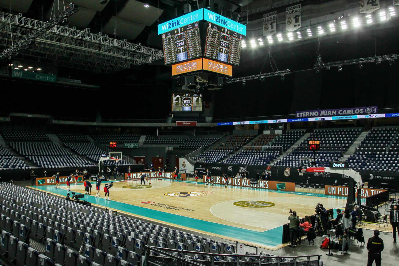El Wizink Center durante un partido de baloncesto del Real Madrid.