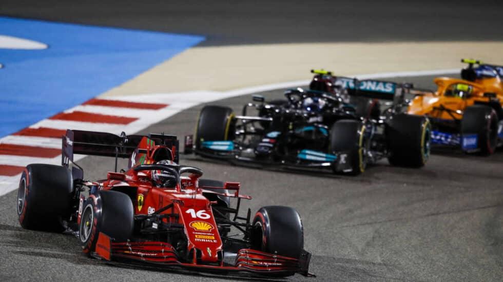 El Ferrari del piloto de Fórmula 1 Charles Leclerc.