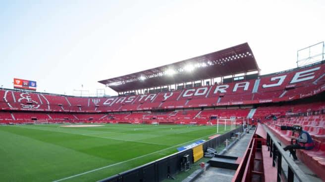 Panorámica general del Estadio Ramón Sánchez Pizjuán, donde juega el Sevilla sus partidos de local