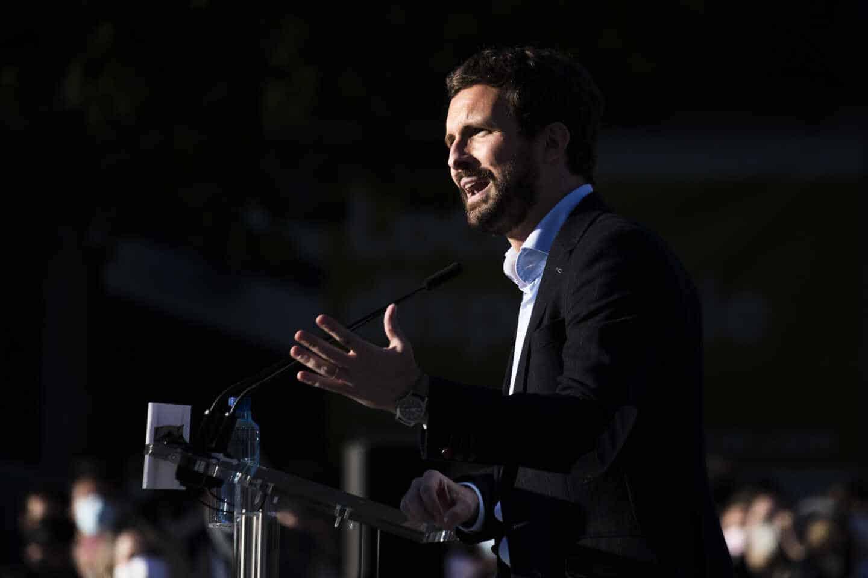 Pablo Casado, en el mitin de arranque de campaña del PP para el 4-M.