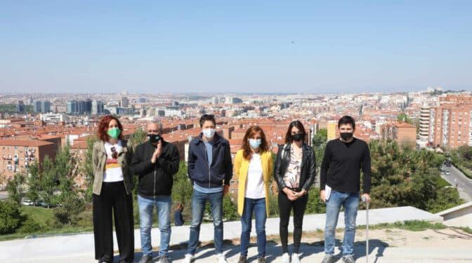 La rumba de Más Madrid desde el Cerro del Tío Pío para pedir el voto a la doctora