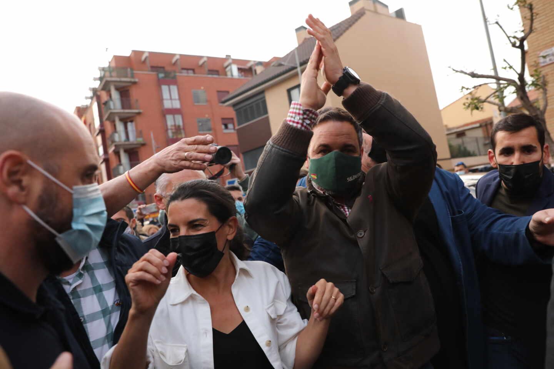 Mitin de Vox en el municipio madrileño de Parla