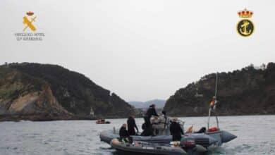Neutralizado un artefacto explosivo hundido frente a la bocana del puerto guipuzcoano de Pasaia