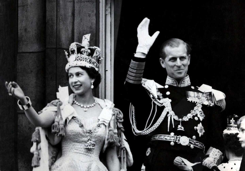 La reina isabel II y el príncipe Felipe, el día de la Coronación