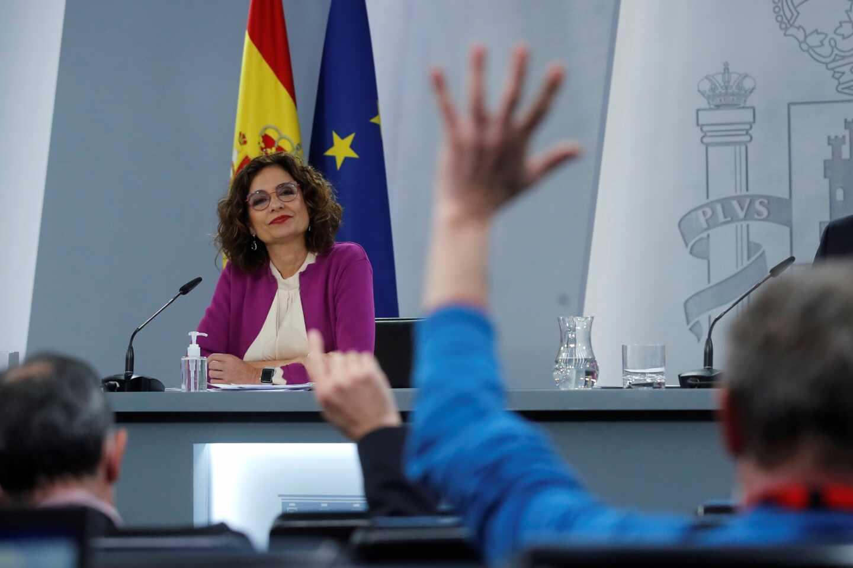 La ministra de Hacienda y portavoz del Gobierno, María Jesús Montero durante una rueda de prensa tras la reunión del Consejo de Ministros.