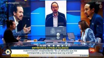 """Pablo Iglesias contra Mónica López: tenso enfrentamiento por """"el blanqueamiento de la ultraderecha"""" en TVE"""