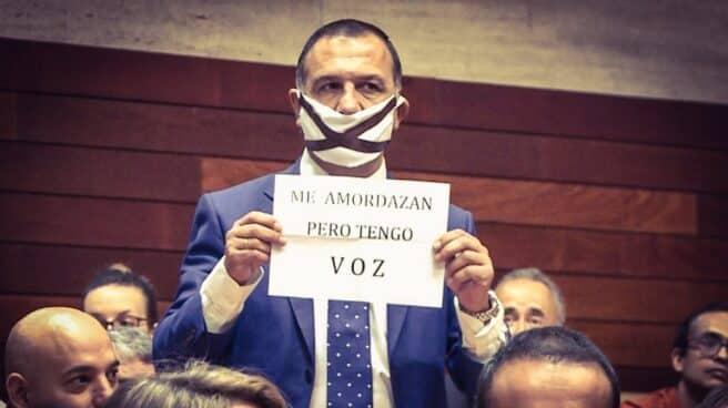 Juan Antonio Morales, en la Asamblea de Extremadura.