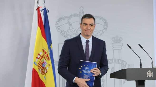 El presidente del Gobierno, Pedro Sánchez, este martes antes de su rueda de prensa tras el Consejo de Ministros.