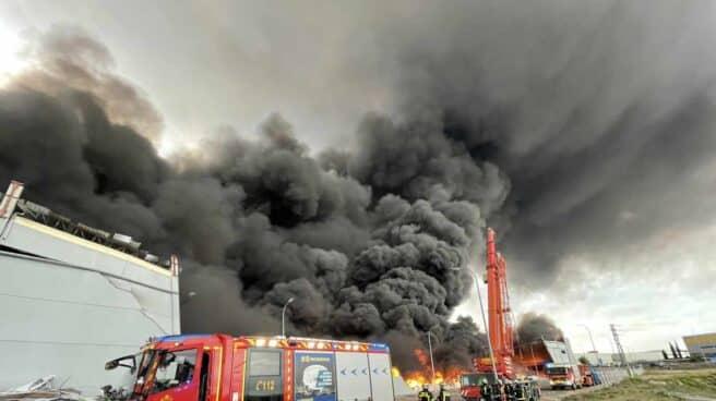 Incendio en Seseña.