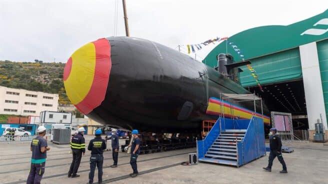 El submarino desarrollado por Navantia en Cartagena.