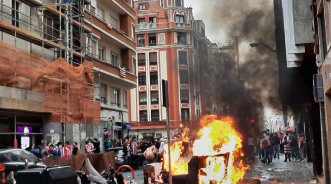 Caos, aglomeraciones y disturbios en Bilbao: la otra cara de la final de la Copa del Rey