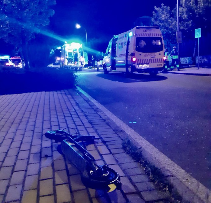 Accidente de un joven en patinete en Valdemoro (Madrid).