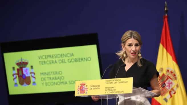 La vicepresidenta tercera del Gobierno y ministra de Trabajo y Economía Social, Yolanda Díaz.