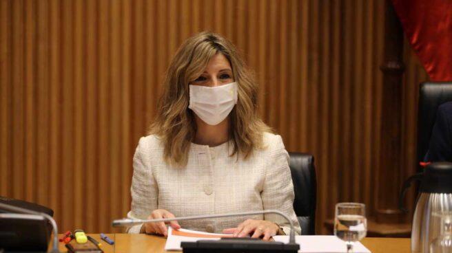 La ministra de Trabajo, Yolanda Díaz, comparece en el Congreso.