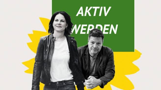 Annabella Baerbock y Robert Habeck, líderes de los Verdes alemanes