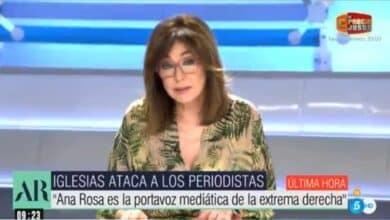 """La réplica de Ana Rosa Quintana a Iglesias tras llamarla """"portavoz de la ultraderecha"""""""