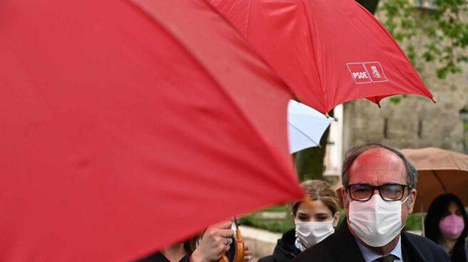 Ángel Gabilondo, en un acto de campaña este jueves.
