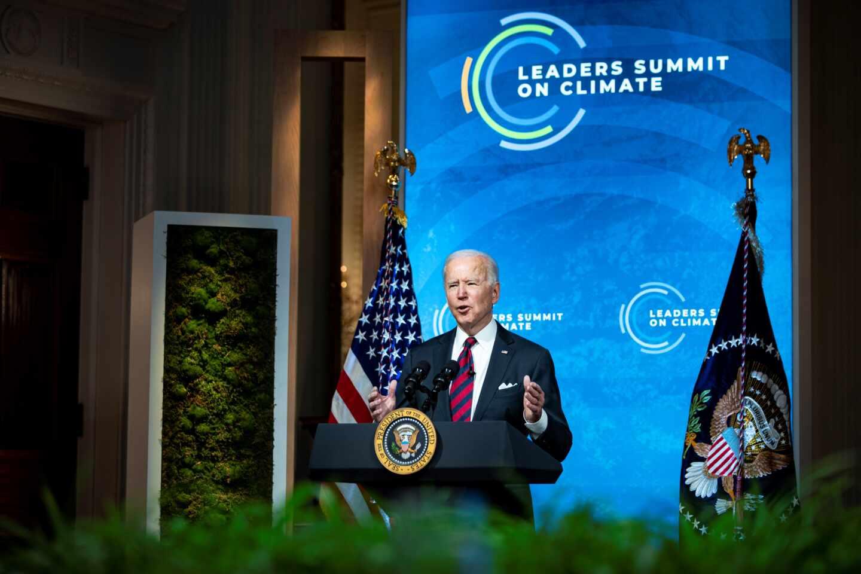oe Biden durante su intervención en la cumbre de líderes mundiales sobre cambio climático.
