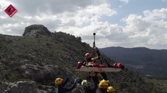 Rescate a senderistas en la montaña del Cavall Verd, en Alicante.
