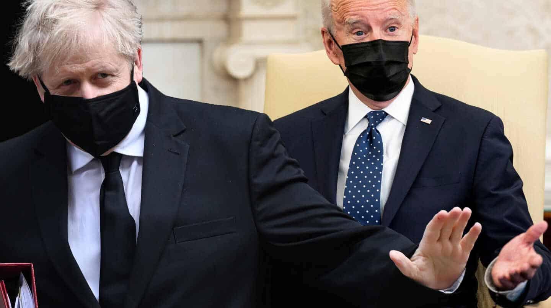 Boris Johnson y Joe Biden.