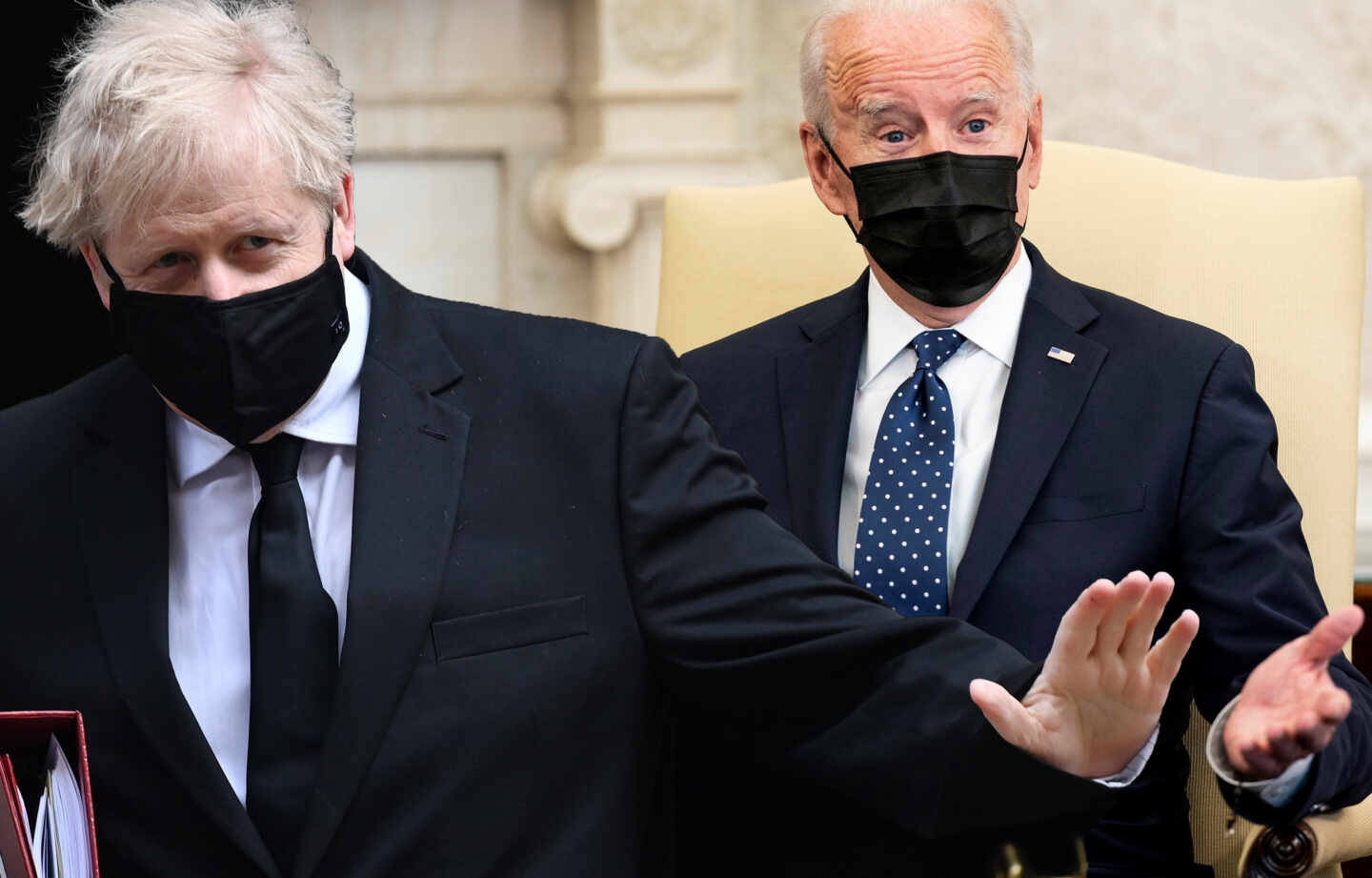 Boris Johnson y Joe Biden.