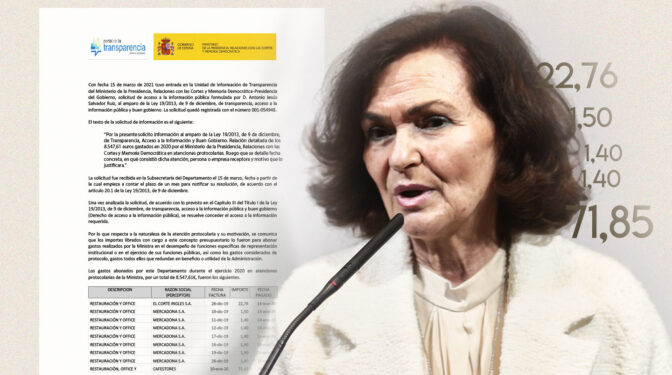 Los 8.547 euros en gastos protocolarios de Calvo: El Corte Inglés, Mercadona, restaurantes...