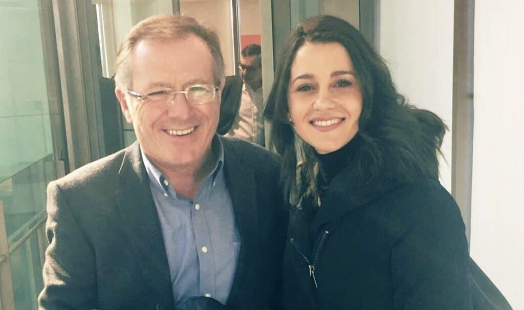 El presidente de Melilla, Eduardo de Castro, junto a la líder de Ciudadanos, Inés Arrimadas.
