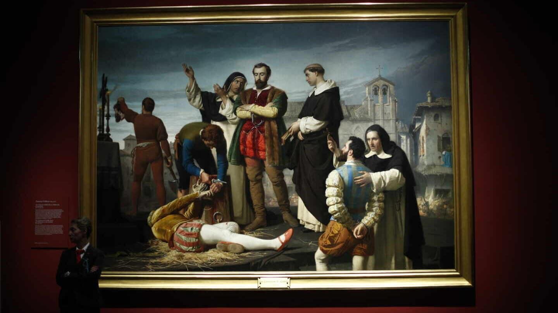 El cuadro 'Los comuneros, Padilla, Bravo y Maldonado en el patíbulo'
