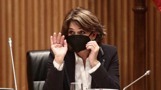 La Fiscal General del Estado, Dolores Delgado, en una comparecencia en el Congreso.
