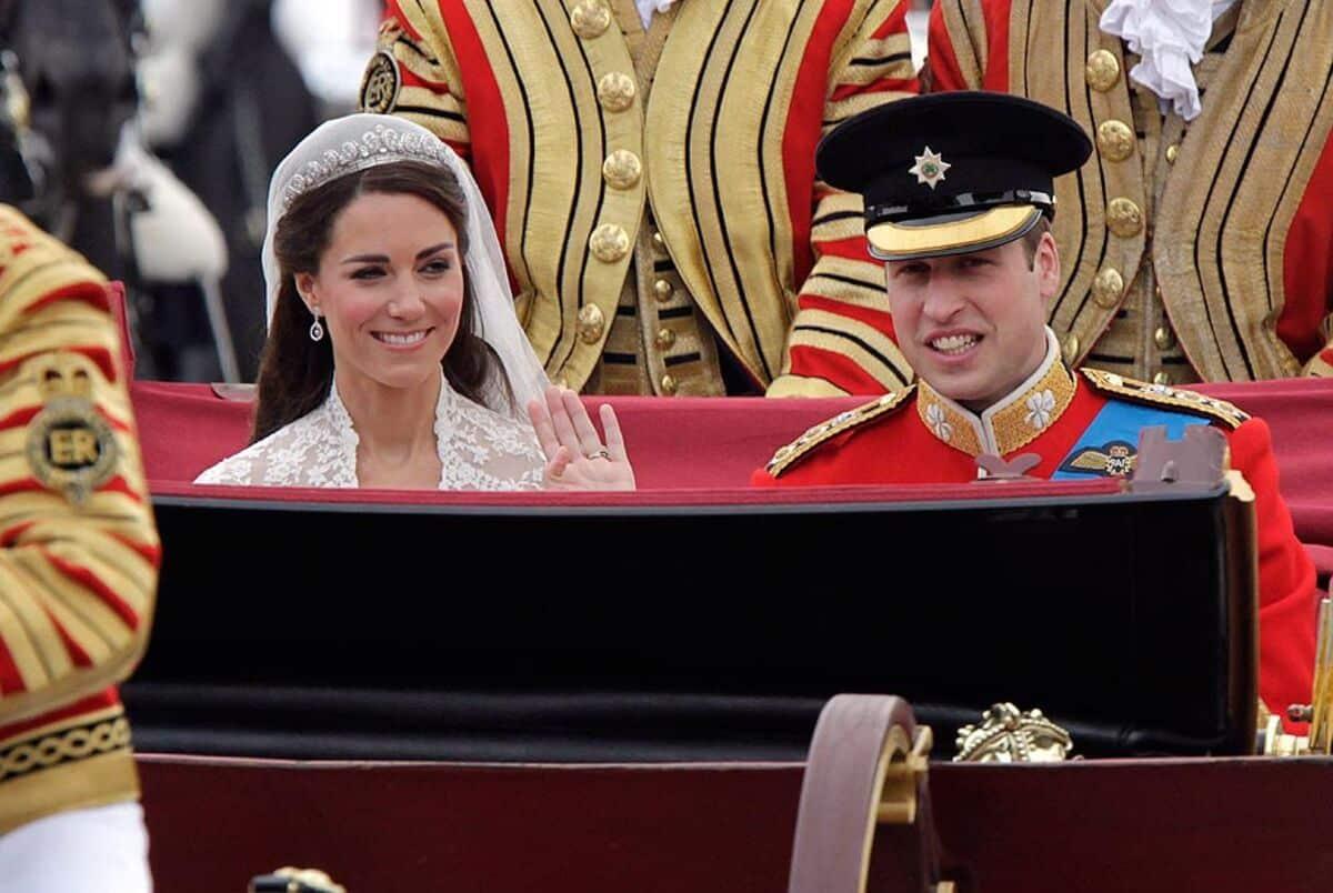 Fotografía de los Duques de Cambridge en su boda