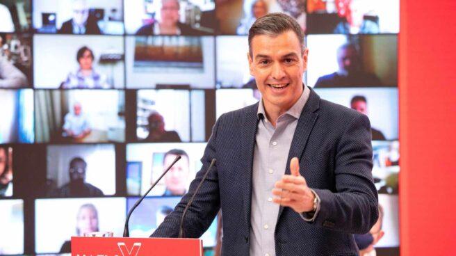 Pedro Sánchez, en la sede del PSOE en Ferraz.