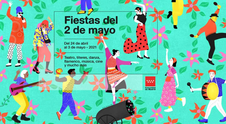 Cartel de las fiestas del 2 de mayo en la Comunidad de Madrid