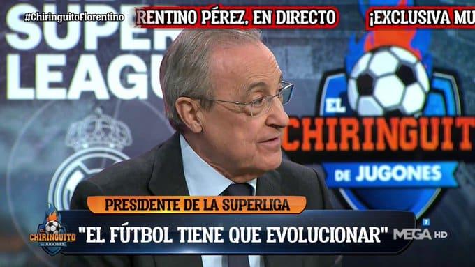 Florentino Pérez, en El Chiringuito.