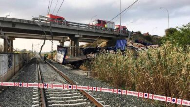 Fallece un camionero tras caer a las vías del tren en Tafalla