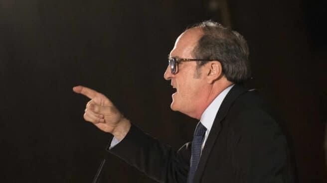 El candidato del PSOE a la Comunidad de Madrid, Ángel Gabilondo, en un mitin en Fuenlabrada.