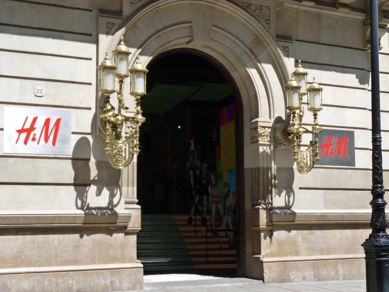 La tienda de H&M en Portal de l'Àngel en Barcelona.