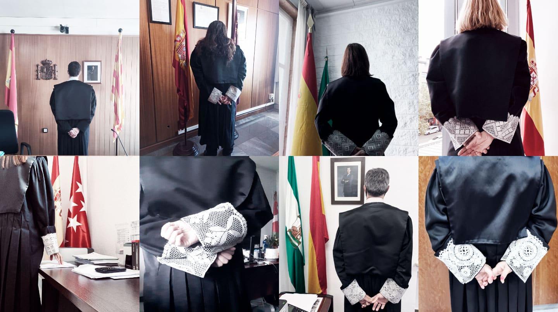 Imagen de jueces de espaldas para hacer huelga