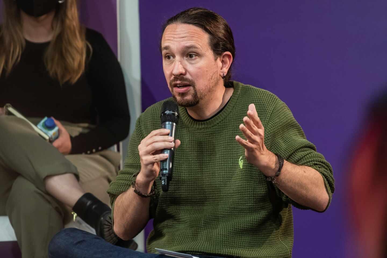 El candidato de Podemos a la presidencia de la Comunidad de Madrid, Pablo Iglesias