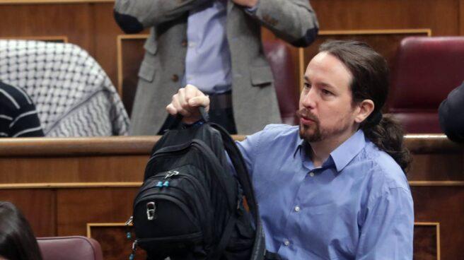 Iglesias en el Congreso con su mochila