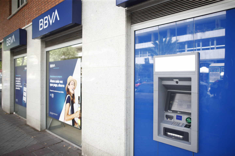 Una oficina de BBVA en Madrid.