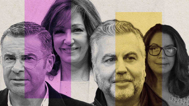Imagen de Jorge Javier Vázquez, Ana Rosa Quintana, Alsina y Angels Barceló