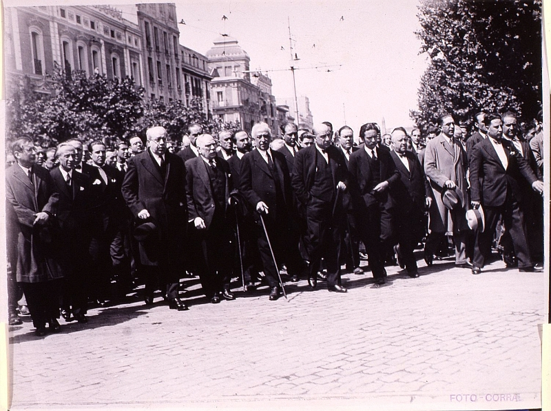 Niceto Alcalá Zamora y varios miembros del Gobierno de la República en 1936