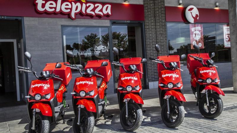 Motos de Telepizza.