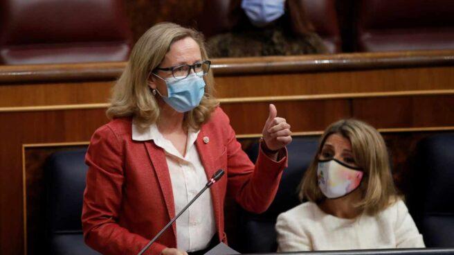 La vicepresidenta y ministra de Asuntos Económicos en el Congreso de los Diputados.