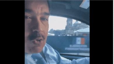 El vídeo de Maduro conduciendo en el Zócalo de México D.F.