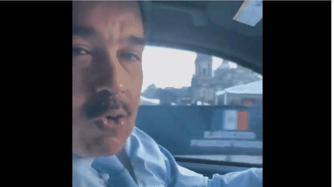 Nicolás Maduro, conduciendo de camino al Palacio Nacional de México para asistir a la VI Cumbre de Jefas y Jefes de Estado y de Gobierno de la CELAC